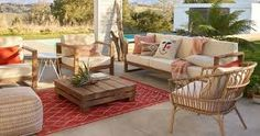 mid century modern patio ideas - Google Search Diy Outdoor Furniture, Deck Furniture, Outdoor Decor, Modern Patio, Mid-century Modern, Austin Homes, Shopping World, Affordable Home Decor, First Home