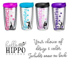 29fe10b29d Personalized Tumbler for Gymnastics/Personalized Gymnast Gift/ by  HelloHippoDesigns | Etsy Outdoor Drinkware,