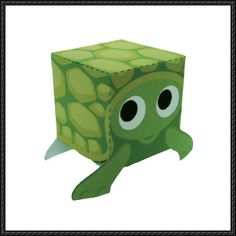 Animal Paper Model - Turtle Cube Craft Free Download