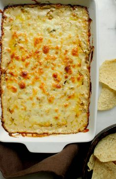 An array of delicious dip recipes for parties including a buffalo chicken dip…
