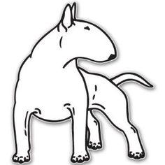 "BULL TERRIER dog car bumper sticker decal 6"" x 6"" ,$3.99"