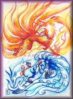 Water x Fire Okami Fox Spirits