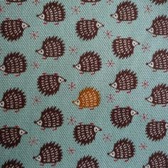 Teeny Weeny hedgehog Japanese fabric by Moonstone by jojoebi