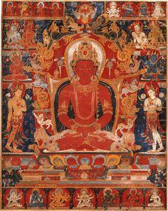 "Amitabha Buddha with his mudra ""Samadhi"" : mind becoming still."