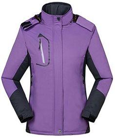 34be8519106a4 Wantdo Chaqueta de Esquí Forro Polar Impermeable Excursión para Mujer
