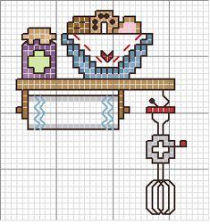 Schema punto croce Oggetti-cucina