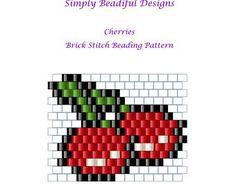 Brick Stitch Patterns, Seed Bead Patterns, Beaded Bracelet Patterns, Peyote Patterns, Beading Patterns, Beaded Earrings Native, Beaded Brooch, Mini Cross Stitch, Peyote Stitch