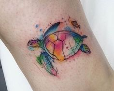 #SeaTurtle #WatercolorTattoo