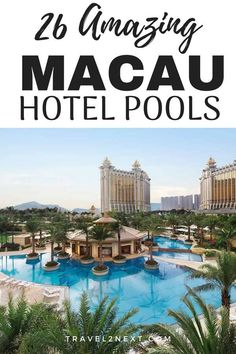 26 Macau Pools That Are Truly Amazing. Hotel swimming pools in Macau are getting bigger and better. Vietnam Travel, Thailand Travel, Asia Travel, Macau Travel, Hotel Swimming Pool, Hotel Pool, Beautiful Vacation Spots, Unusual Hotels, Honeymoon Hotels