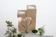 Rustic Barnwood Candle Holder with Unique Heart Design, Cute Floating Tealight Pair Small Woodworking Projects, Learn Woodworking, Popular Woodworking, Wood Projects, Craft Projects, Projects To Try, Woodworking Plans, Woodworking Furniture, Craft Ideas