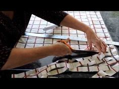 How to Turn Fabric into Yarn - A Continuous Ball for Crafting, Crocheting & Knitting - YouTube