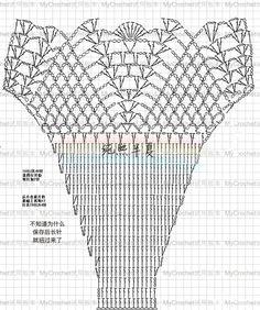 Diy Crafts - Super Ideas For Crochet Bikini Pattern Diagram Bathing Suits crochet Motif Bikini Crochet, Débardeurs Au Crochet, Beau Crochet, Crochet Diagram, Crochet Blouse, Crochet Chart, Crochet Stitches, Crochet Patterns, Lingerie Crochet