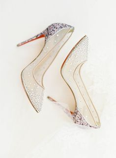 Sparkle sequin wedding shoes rhinestones heels that aren't boring christian louboutin