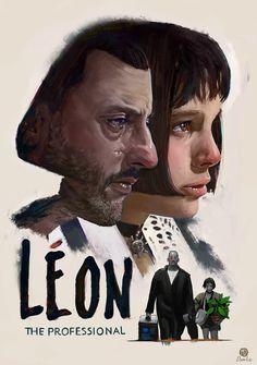 """Léon""-Fanart-Poster, Marcel Domke on ArtStation at http://www.artstation.com/artwork/leon-fanart-poster"