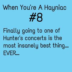YES!!!!!!!!!!!!!!!!!!!!!!! He's amazing in concert! Ive only seem him once (and i hope to see him many more times) but if your a Hayniac, and you haven't seen him in concert yet, i pray you get to one day. <3