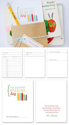 Encourage Summer reading with this FREE printable reading log. Includes a list of 50 Fun books to read this Summer.