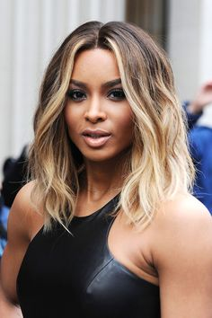 Ciara's ombre hair (medium wavy hairstyle)