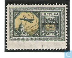 Stamps - Lithuania - 500 black and yellow