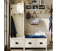 Great Look for a Mudroom   Pottry Barn   Wade Bench