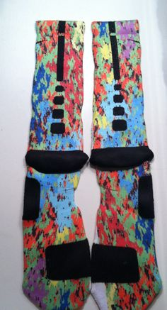 Custom Nike Elite Basketball Socks What the... Camo by LeagueReady, $30.00