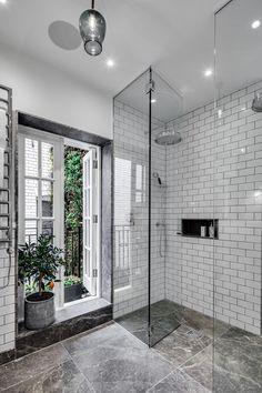 Guest Bathroom, Shower Room, Tiling, Apartment, Gatti House, The Strand, London, Interior Design, Home Decor, Interior Decoration, Barlow & Barlow