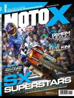 GERMAN CONTENT--Since 1998 motoX Magazine is offering national and internation news, stories and background stories of the fascinating world of motocross racing and freestyle MX to the German scenewell-founded tests with bikes and products, tipps on driving technique and many specials bring entertainment and service to the reader.