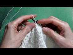 ▶ Combination Knitting - YouTube - Finally figured out the technique I use to knit--I taught myself at some point but have trouble when I'm teaching other people because it is different.