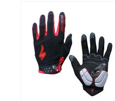Generic Full Finger Cycling Bicycle Touch Gloves Road Mountain Sports Damping Gloves Large Size - Black -- Visit the image link more details.