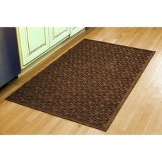 Aqua Shield Dogwood Leaf Mat Size: 3' x 5', Color: Medium Grey by Bungalow. $82.16. 841570035 Size: 3' x 5', Color: Medium Grey Features: -Surface material: Premium 24 oz. polypropylene.-Origin: USA.-Green friendly with over 20pct recycled rubber backing.-Low profile design allows most doors to glide easily over it.-Will not crush, fade, mold, mildew or rot.-Anti-static and flame resistant.-Suitable for multiple uses throughout your home, outdoor space, workplace o...