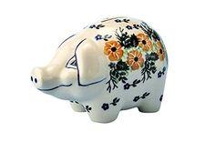 New Polish Pottery PIGGY BANK Boleslawiec CA Pattern 1396 European Stoneware >>> See this great product.