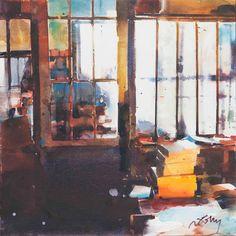 Marc Folly Watercolor Sketch, Watercolor Landscape, Watercolour Painting, Landscape Paintings, Watercolours, Art Pictures, Photos, Art Aquarelle, Window Art
