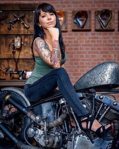 """""""Live up to your convictions. You walk in Grace or you walk in fear. You can't have it both ways. Lady Biker, Biker Girl, Biker Baby, Pin Up, Motard Sexy, Womens Motorcycle Helmets, Motorcycle Gear, Motorcycle Quotes, Chicks On Bikes"""