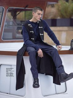Military Precision: Jules Mas Stars in SCMP Style January 2017 Issue