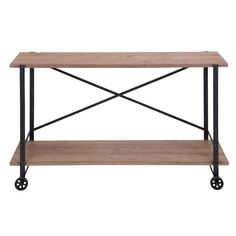 Metal/ Wood Console Table | Overstock.com Shopping - The Best Deals on Coffee, Sofa & End Tables