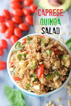 Caprese Quinoa Salad - easy and perfect summer meal