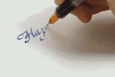 calligraphy gif : Happy #calligraphy #lettering #gif