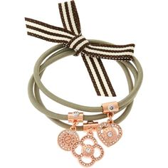 Henri Bendel Iconic Trio Pony Set (€35) ❤ liked on Polyvore featuring accessories, hair accessories, rose gold, henri bendel hair accessories and henri bendel