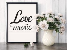 """Poster """"Love for music"""", Beautiful poster, Modern text, Gift idea, Housewarming Gift, Home decor, Love music, Art Poster, note, music staff by MerryGallery on Etsy Beautiful Posters, True Love, House Warming, Note, Trending Outfits, Handmade Gifts, Music, Modern, Etsy"""