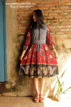 batik amarillis's dress www.batikamarillis-shop.com - made of hand drawn batik Banyumas, Indonesia