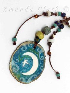 Porcelain Pendant by Amanda Clark