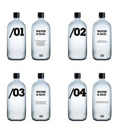 Water by the numbers #packaging PD