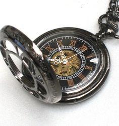 Steampunk VINTAGE FLOWER Pocket Watch by GlazedBlackCherry