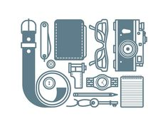 Equipments by @sanlikemal #dribbble #dribbblers #graphicdesign #design #icon #illustration by dribbblers