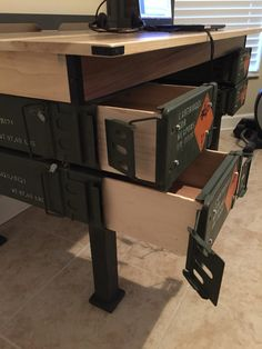Ammo Can Drawers - We have these 120mm Ammo Cans available at http://ammocanman.com/120mm-ammo-can-grade-1/