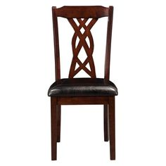Think beyond ladder backs and slatted backs with the Alpine Furniture Provo Side Chair . A cutout back with a braided pattern draws the eye and lightens. Mismatched Dining Chairs, Dinning Room Tables, Kitchen Dining Sets, Solid Wood Dining Chairs, Dining Room Sets, Alpine Furniture, Dining Furniture, Furniture Deals, Traditional Dining Chairs