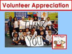 Volunteer appreciation gifts and ideas for preschool, pre-k, and kindergarten.