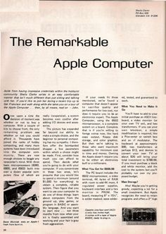 Primul articol despre Apple publicat intr-un ziar american apare intr-o serie de imagini | iDevice.ro