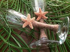 Sugar Starfish Beach Champagne Glasses ** More info could be found at the image url.