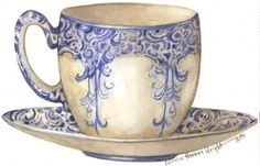 Arabesque Cup and Saucer (Carolyn Shores Wright)