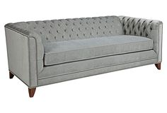 """Chip 80"""" Chesterfield, Pewter - I think I'm in love with this City Girl!"""